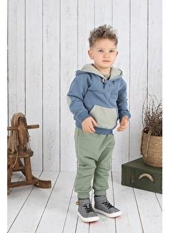 Nila Kids Koyu Yeşil Rengi Erkek Bebek Organik Fit Pantalon NK4004KY (3 AY - 5 YAş)